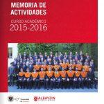 Memoria de actividades. Curso 2015-2016